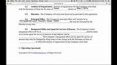 Example Llc Operating Agreement Write A Free Single Member Llc Operating Agreement Pdf