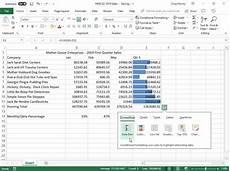Quick Analysis Tool Excel Conditional Formatting In Excel 2019 Dummies