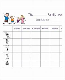 Family Schedule Organizer Printable Weekly Planner 11 Free Pdf Documents Download