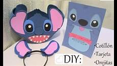 tarjeta dulcero orejitas de stitch regalo decoraciones