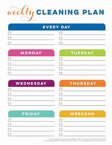 Printable Cleaning Schedule Template Tcb Printable Cleaning Planner Blank Weekly Cleaning