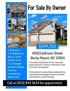 Home For Sale By Owner Flyer Customize 1 370 Real Estate Flyer Templates Postermywall