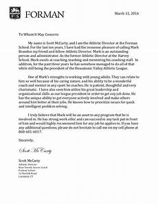 National Honor Society Letter Of Recommendation From Coach Mark Brandon Letter Of Recommendation Ad