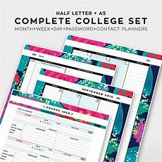 College Weekly Planners Complete College Student Planner 2015 2016 Academic By