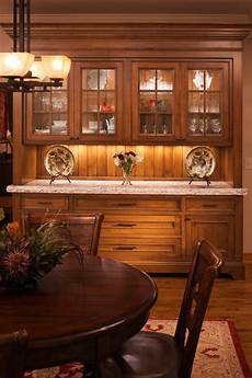 baroque buffet hutch in dining room traditional with built