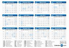 Week Calander 2015 Calendar