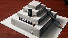 Drawing 3d How To Make A 3d Concrete Pyramid Pencil Drawing Youtube