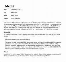 Memo Finance 19 Audit Memo Templates Sample Word Google Docs Format