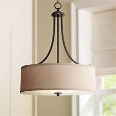 Linen Shade Pendant Light La Pointe 19 1 2 Quot Wide Oatmeal Linen Shade Pendant Light