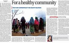 The Himalayan Times Article What Works For A Healthy Community