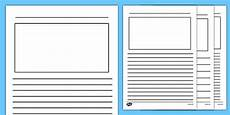 post card template twinkl blank writing frames