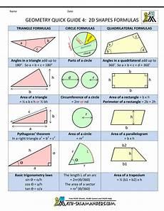 Geometric Formula Geometry Cheat Sheet