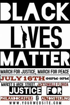 Protest Flyer Template Black Lives Matter Template Postermywall