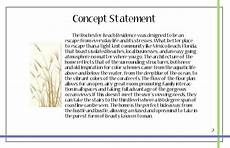 Design Philosophy Statement 2 Concept Statement