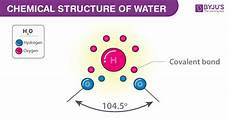 Chemical Name For Water What Is The Chemical Formula For Water Structure