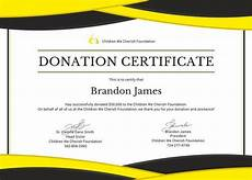 Charity Gift Certificates Donation Certificate Template 8 Free Word Pdf