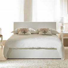 cheap emporia beds madrid 4ft6 white faux leather