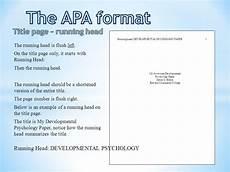 Apa Format Example Title Page Apa Format Example Paper Without Title Page Apa Title