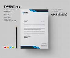 How To Design Letterhead In Word Modern Letterhead Stationery Templates Creative Market