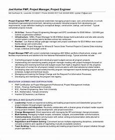 Project Management Experience Examples Project Management Resume Example 10 Free Word Pdf