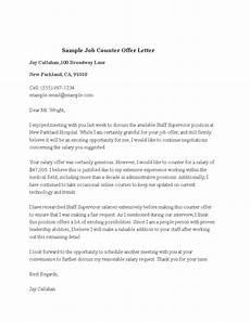 Job Offer Counter Proposal Letter Sample Sample Job Counter Offer Letter Templates At