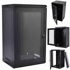 15u wall mount network server data cabinet enclosure rack