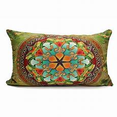 square rectangle cotton linen pillow bed throw