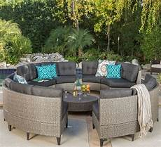 Circular Patio Sofa 3d Image by Currituck Outdoor Wicker Patio Furniture 10 Black