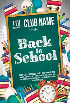 Back To School Flyer Templates Free Flyers Templates In Psd By Elegantflyer