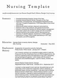 Nursing Template Resume 30 Nursing Resume Examples Amp Samples Written By Rn