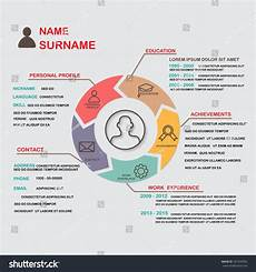 Personal Infographic Template Resume Cv Template Infographics Background And Element