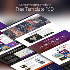 Portfolio Psd Template Free Download Company Portfolio Website Template Free Psd Download