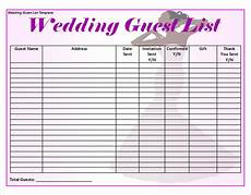 Free Wedding Guest List Template Free 16 Wedding Guest List Templates In Pdf Ms Word Excel
