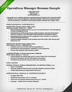 National Operations Manager Resume Operations Manager Resume Sample Resume Genius