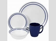 NEW CORELLE LIVINGWARE 16 PC DINNERWARE SET CAFE BLUE   eBay