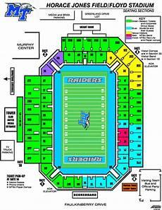 Tennessee Vols Football Seating Chart Middle Tennessee Blue Raiders 2013 Football Schedule