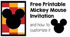 Mickey Mouse Party Invitations Free Mickey Mouse Invitation And How To Customize It Paper