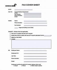 Fax Cover Sheet Attn 8 Medical Fax Cover Sheet Templates Pdf Word Free