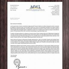 Letterhead Law Firm Law Firm Letterhead For Matthiesen Wickert Amp Lehrer S C