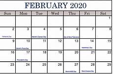 february 2020 calendar events february holidays 2020 february calendar 2020 with