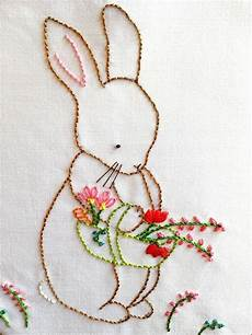 bunny embroidery pattern embroidery pattern