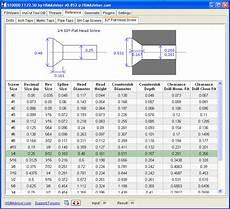Screw Counterbore Size Chart Hsm Machining