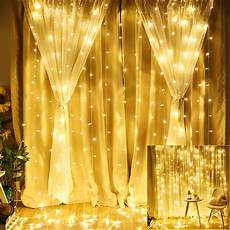 How To Make A String Light Curtain Nk Curtain String Lights 9 8 X 9 8ft 304 Leds Starry