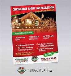 Christmas Lights Flyer Template Holiday Lighting Full Page Flyer 114 Off The Rack By