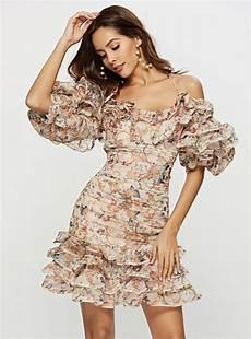 sleeve floral dress straps floral printed shoulder straps lantern sleeve dress