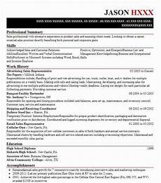Advertising Sales Resume Samples Advertising Sales Representative Resume Sample Livecareer