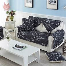 White Sofa Cover 3d Image by Modern Style White Black Printed Sofa Cover Quilting