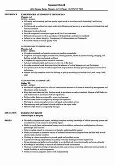 Automotive Technician Resume Automotive Technician Resume Samples Velvet Jobs
