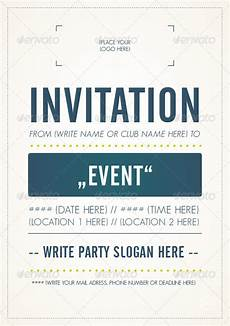Invitation Flyer Template Invitation Flyer Template By M103 Graphicriver