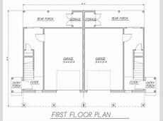 Tidewater Duplex 9172   3 Bedrooms and 2 Baths   The House Designers